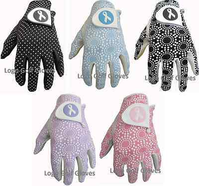 5 Finest Ribbon Logo Cabretta Leather Golf Gloves 4 Ladies XS Small Medium Large