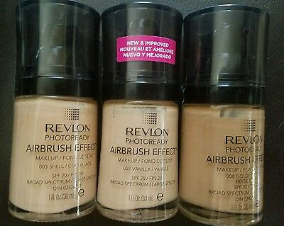 New Revlon Photoready Airbrush Effect Makeup Foundation Spf 20 **you Choose**