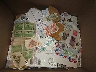 Huge Thousands of  WORLD STAMPS BOX LOT on PAPER