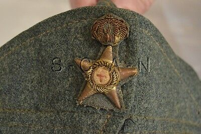 WWII Royal Italian Army Overseas Hat- Logistics Officer- Bustina- Badge- 30s-40s