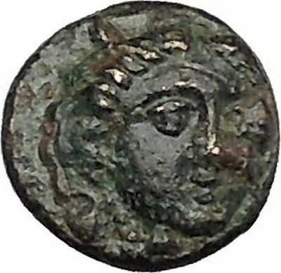 LARISSA PHRIKONIS in AEOLIS 400BC River-god Apollo Ancient Greek Coin i50526