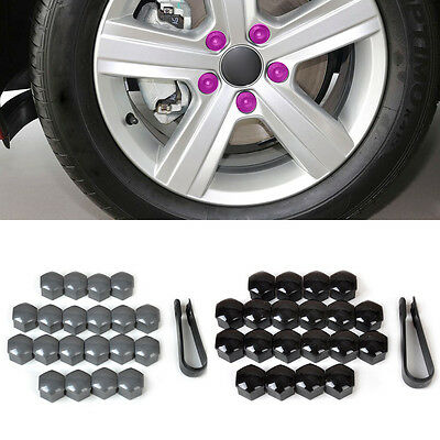 20x Wheel Lug Nut Center Cover Caps +Removal Tool 321601173A for VW Golf Audi A4