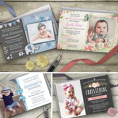 Personalised Christening Invitations / Baptism Party Invites