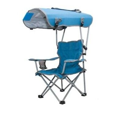 Kelsyus K Kids Canopy Chair in Blue Gray Folding Outdoor Camping Patio Beach New