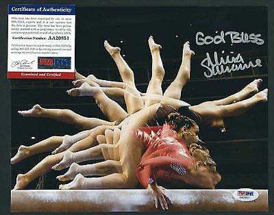 "ALICIA SACRAMONE signed 8""x10"" photograph PSA Authenticated Olympic Gymnist"