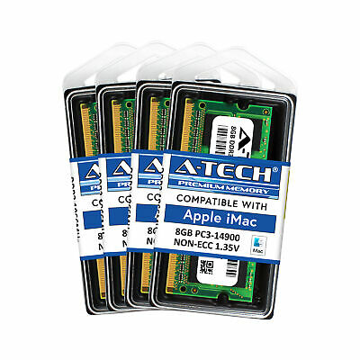 32GB Kit 8GB X4 PC3-14900 Apple iMac 5K Late 2015 MK462LL/A MK482LL/A Memory Ram