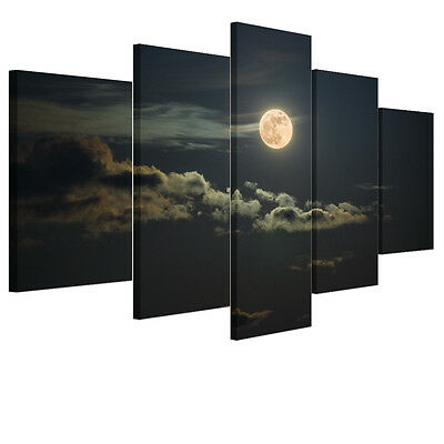 HD Canvas Print Home Decor Wall Art Painting Picture Large Moon Night Unframed