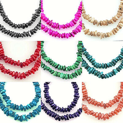 15'' STRAND / 100 PCS Approx.~ NATURAL GEMSTONE ~SHELL~ CHIP BEADS, 6~10 MM