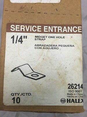 """1-Hole Service Entrance Strap, 1/4"""" Midget 1 hole strap Lot of 500 10 bags of 50"""