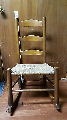 Antique Maple Shaker ROCKER Original Circa 1850's Pennsylvania Provenance