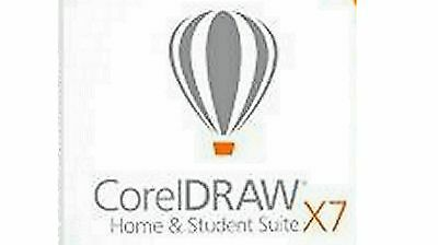 Corel Draw Home and Student X7 3 user Free  Shipping!