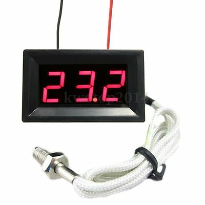 Thermocouple Red LED DC12V Digital Thermometer Temperature Meter Display 0~999°C
