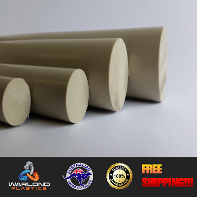 Polypropylene Rod (PP) Beige Colour-Chemical Resistant-Select Diameter & Length