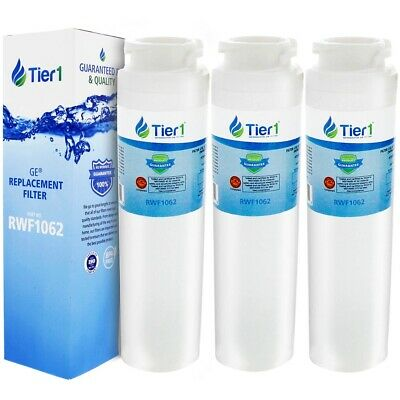 Fits GE MSWF SmartWater Comparable Refrigerator Water Filter 3 Pack