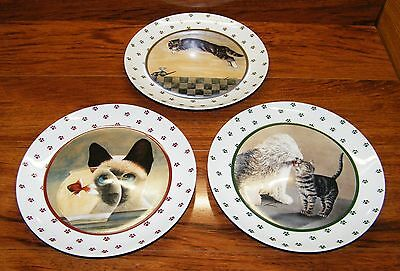 SET OF 3: Lowell Herrero 1986 Vandor Decorative Cat Collector Plates Only