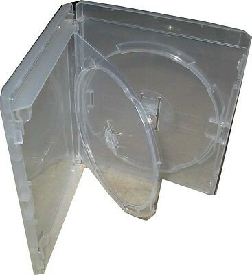 1 Genuine Double Amaray Clear Bluray with tray dvd case