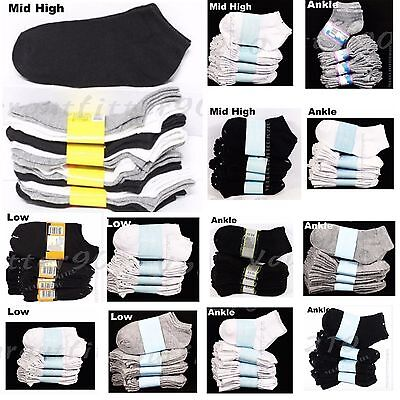 3 6 12 PACK Kid's Boy Girl Ankle Socks Lot Spandex Baby Toddler 0-12 2-3 4-6 6-8