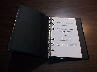 1981 Wilmington & Western Railroad Employee Timetable And Rule Book