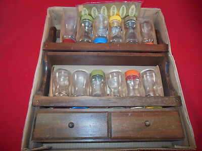 Retro Cutler's Imperial CAMELOT Wood SPICE RACK In Original BOX w/ SPICE JARS