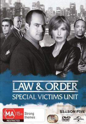Law And Order Special Victims Unit SVU Season 5 (6 Discs) DVD R4 New!