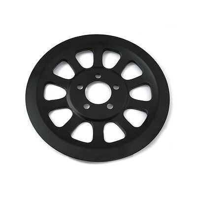 V-Twin Mfg. Black Outer pulley Cover 70T for 2007-Up Harley Softail Touring