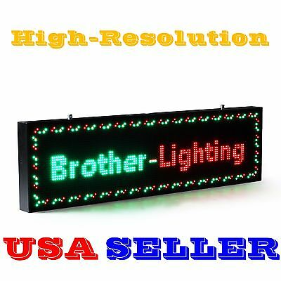 """RGY 40""""x15"""" 10mm LED Sign Programmable Scrolling Message Display Board Open"""