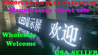 "white color 40""x15"" 10mm LED Sign Programmable Scrolling Message Display"