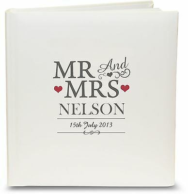 Personalised Mr & Mrs Wedding Photo Album - 30 Pages, Anniversary, Free Delivery