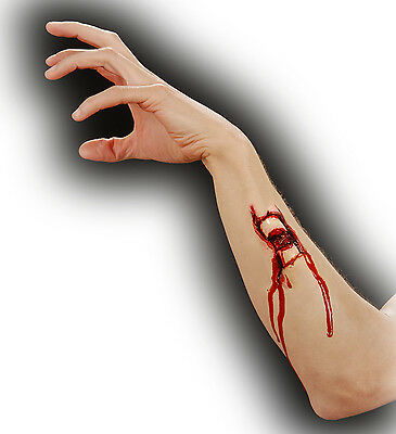 Halloween Horror Special Effect Make Up Zombie Bone Fracture Wound FREE BLOOD