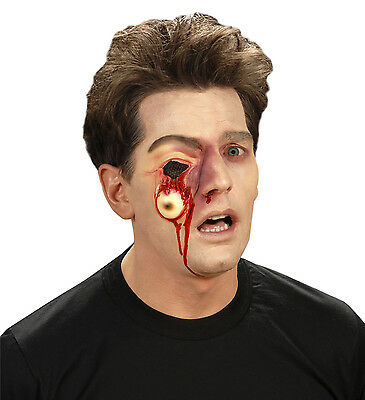 Halloween Horror Special Effect Make Up Zombie Hanging Eye Wound FREE BLOOD TUBE