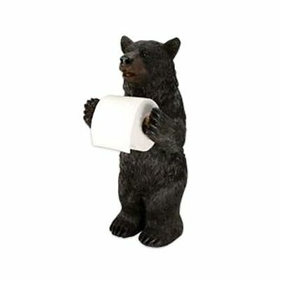 Standing Bear Toilet Paper Holder New Bathroom Black Cabin Decor Home Fun Rustic