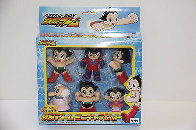 Tezuka Osamu Astro Boy Mini Charactor Set of 6 Takara Japan Movie 2003