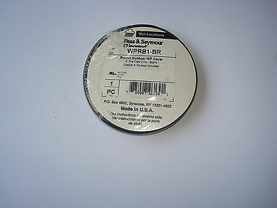 "1 Pass and Seymour weatherproof 4"" round outdoor cluster cover bronze WPRB1-BR"