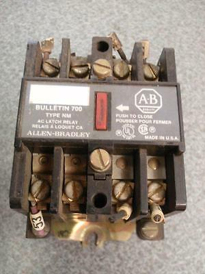 Allen-Bradley 700 Type NM AC Latch Relay w/ 700-N200A1 Ser. C