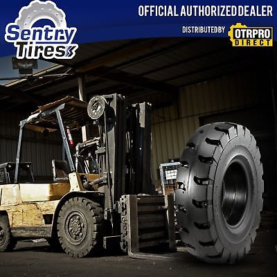 10.00-20 SentryTire Solid Forklift Tires (2 Ties) S Pattern FOR RIM WIDTH 7.0
