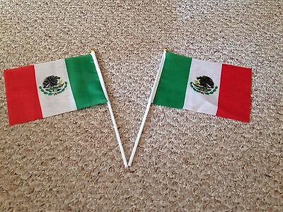 "Mexican flags  New from 6""-8"", Polyester, Mexico National Flag, hand waiving"