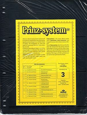 10 Prinz System 3 strip Single sided Pages stock sheet