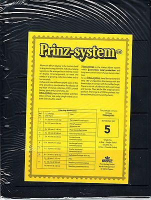 10 Prinz System 5  strip Single sided Pages stock sheet