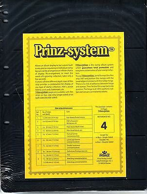 10 Prinz System 4 strip Single sided Pages stock sheet