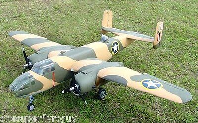 """B-25 Mitchell 1/8 Scale 101"""" WS RC Airplane Full Size PRINTED Plans & Templates"""