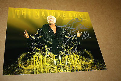 Wwf/wwe/wcw Ric Flair Signed 8X10 Photo The Four Horsemen The Nature Boy Gold