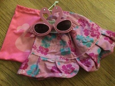 *Discontinued* Brand New Avon Girls Reversible Hat And Flamingo Sunglasses 3-6yr