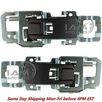 Inside Black Door Handle PAIR Left & Right Front or Rear For 2005-2009 Equinox