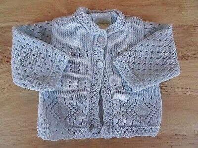 Premature Tiny Reborn Baby Girl Boy Cardigan White Blue Pink 3-5-8lbs 0-3-6-9mth