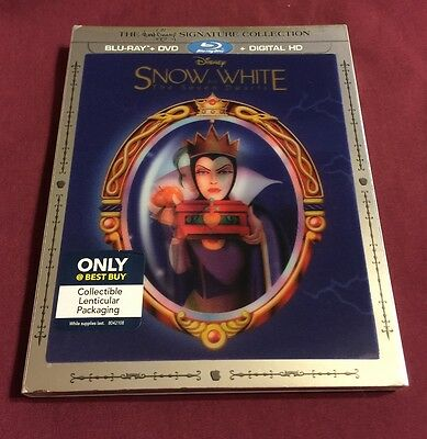 Snow White & the Seven Dwarfs Best Buy EXCL lenticular BLU-RAY SLIPCOVER ONLY