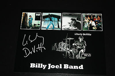 Billy Joel Drummer Liberty Devitto Signed 8X10 Photo Pose 2