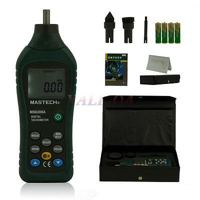 MASTECH MS6208A Contact Digital Handheld Tachometer Speed Meter Test 50-19999RPM