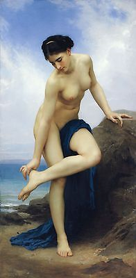 Adolphe William Bouguereau After the Bath (first version) Giclee Canvas Print
