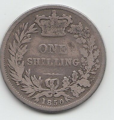 Extremely Rare 1850 Victoria Shilling 1/-