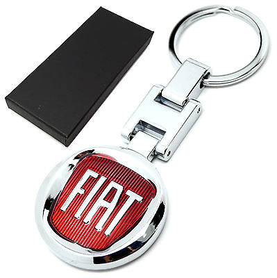 Fiat cars keyring key ring fob chain with box, brand new UK seller